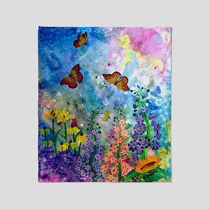 Butterfly Garden 50x60 Inch Throw Blanket