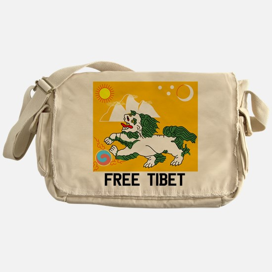 Free Tibet - Old Flag Messenger Bag
