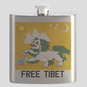 Free Tibet - Old Flag Flask