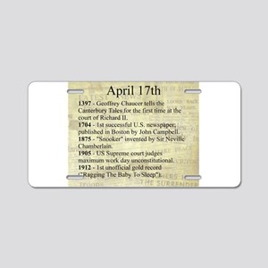 April 17th Aluminum License Plate