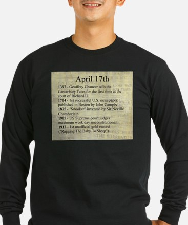 April 17th Long Sleeve T-Shirt