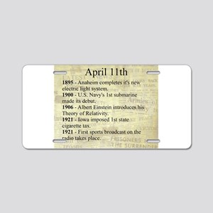 April 11th Aluminum License Plate
