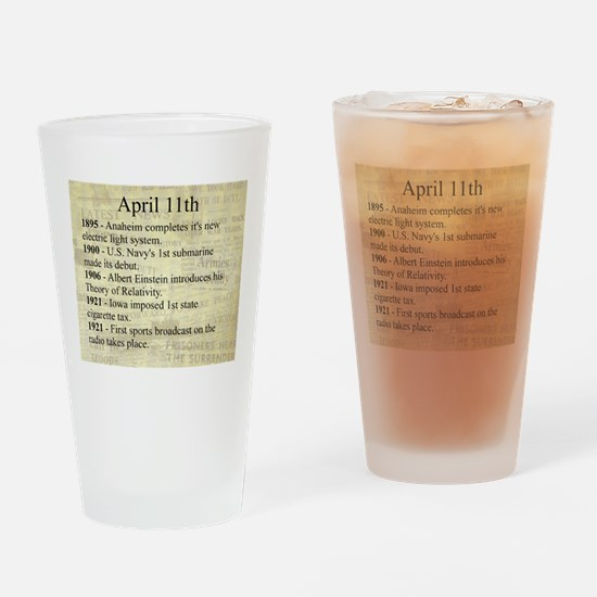 April 11th Drinking Glass