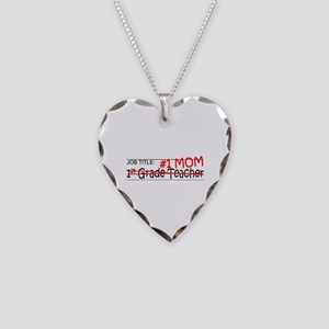 Job Mom 1st Grade Necklace Heart Charm