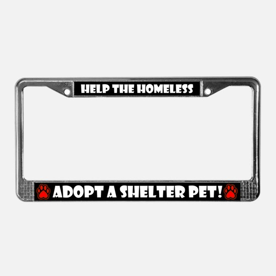 Shelter Pets, License Plate Frame