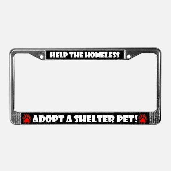 Shelter Pets, License Plate Frame