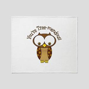 Youre Tree-Mendous! Throw Blanket