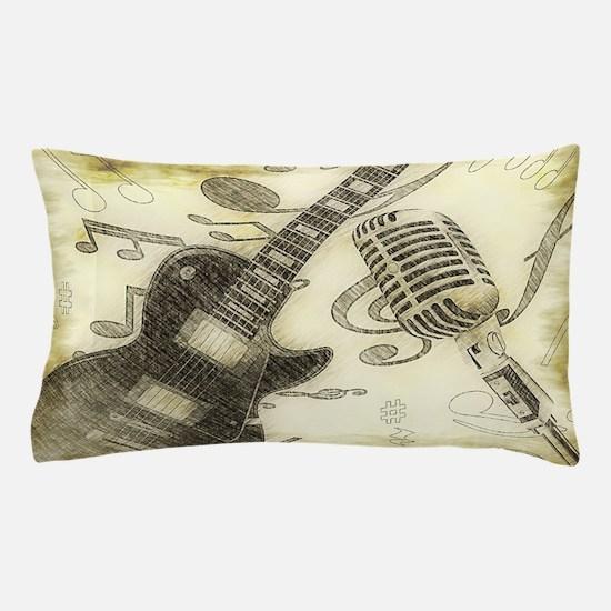 Vintage Guitar  Pillow Case