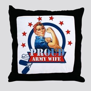 Rosie Proud Army Wife Throw Pillow