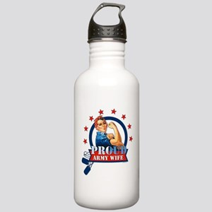 Rosie Proud Army Wife Stainless Water Bottle 1.0L