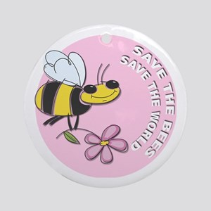 Save The Bees Ornament (Round)