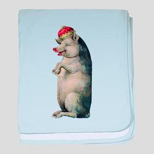 Vintage Pig baby blanket