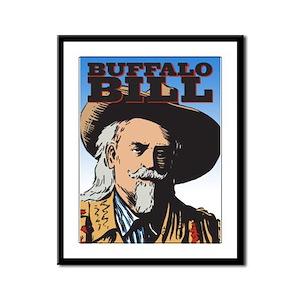 Buffalo Bill Framed Panel Print