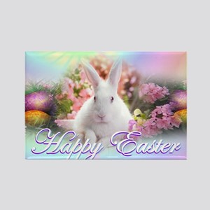 Happy-Easter-Bunny- Rectangle Magnet
