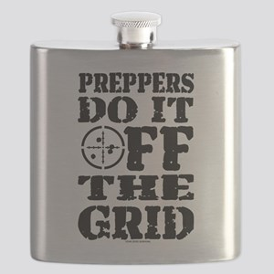Preppers Do It Off The Grid Flask