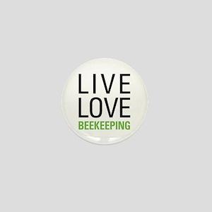 Live Love Beekeeping Mini Button