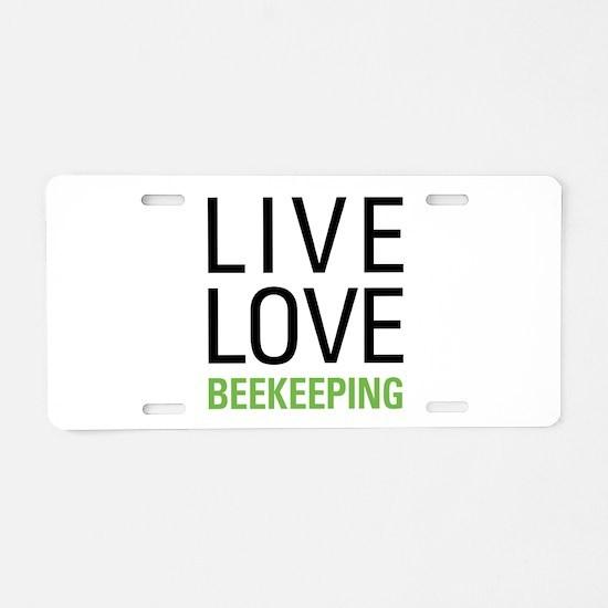 Live Love Beekeeping Aluminum License Plate