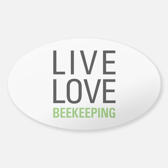 Live Love Beekeeping Sticker (Oval)