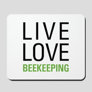 Live Love Beekeeping Mousepad