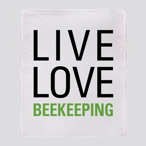 Live Love Beekeeping Throw Blanket