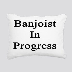 Banjoist In Progress  Rectangular Canvas Pillow