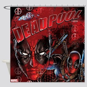 Deadpool Full Bleed Shower Curtain