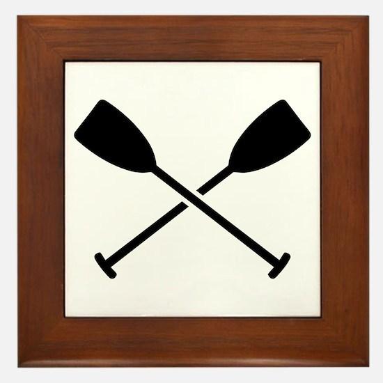 Crossed Paddles Framed Tile