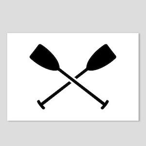 Crossed Paddles Postcards (Package of 8)