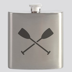Crossed Paddles Flask