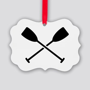 Crossed Paddles Picture Ornament