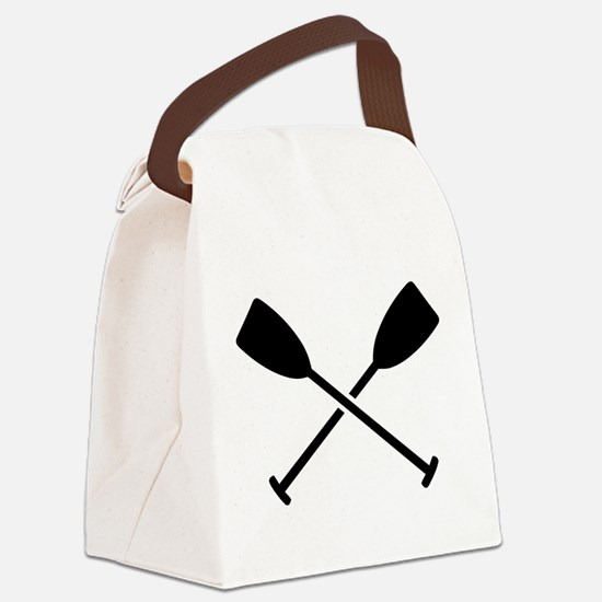 Crossed Paddles Canvas Lunch Bag