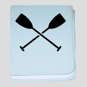 Crossed Paddles baby blanket