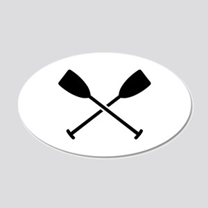 Crossed Paddles 20x12 Oval Wall Decal