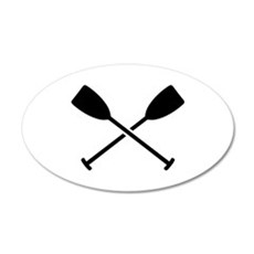 Crossed Paddles Wall Decal