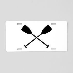 Crossed Paddles Aluminum License Plate