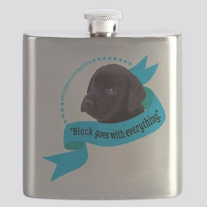 Black Goes With Everything (for dark) Flask