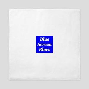 Blue Screen Blues Queen Duvet