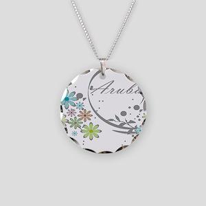Aruba Floral Beach Graphic Necklace
