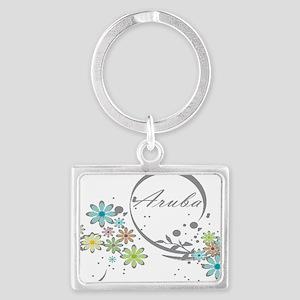 Aruba Floral Beach Graphic Keychains