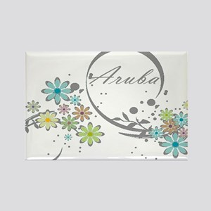 Aruba Floral Beach Graphic Magnets