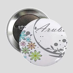 """Aruba Floral Beach Graphic 2.25"""" Button"""
