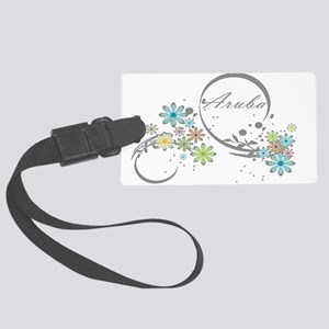 Aruba Floral Beach Graphic Luggage Tag