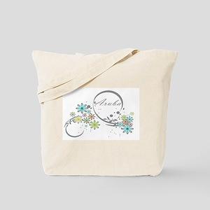 Aruba Floral Beach Graphic Tote Bag