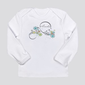 Aruba Floral Beach Graphic Long Sleeve T-Shirt
