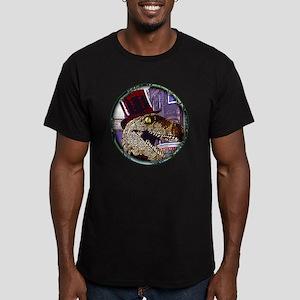 Dinosaur night life ro Men's Fitted T-Shirt (dark)