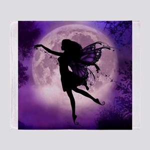Midnight Stroll Fairy Throw Blanket