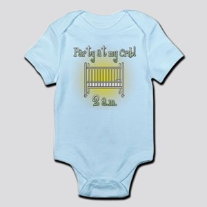 Party at My Crib Funny Cute Baby Body Suit