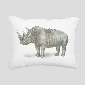 Rhino Rectangular Canvas Pillow
