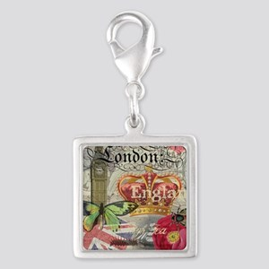 London England Vintage Travel Collage Charms