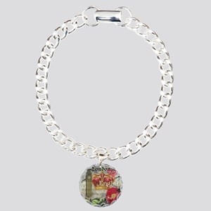 London England Vintage Travel Collage Bracelet